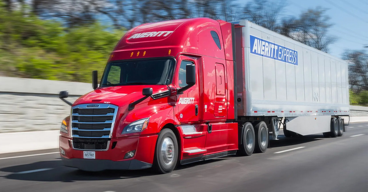 TRANSTEX - Averitt Express - Trailer Side Skirt - Fuel Savings - Transportation