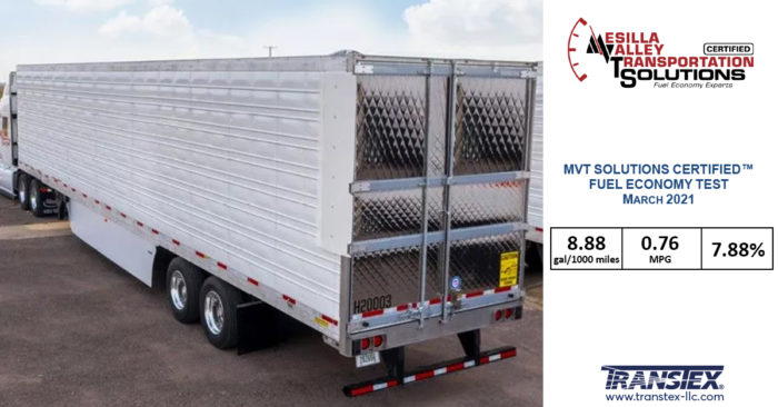 TRANSTEX - MVTS - Refrigerated Trailers - Aerodynamics Skirts - Aero Dynamic Rear End Device - Mudflaps